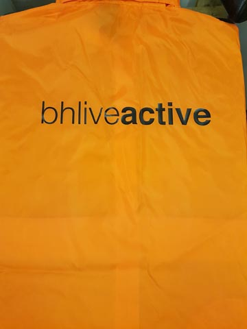 BH Live Active Waterproof Jacket Print by Barritt Garment Printing Bournemouth
