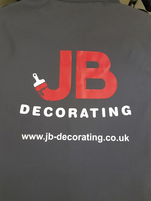 JB Decorating Softshell Jacket Print by Barritt Garment Printing Bournemouth