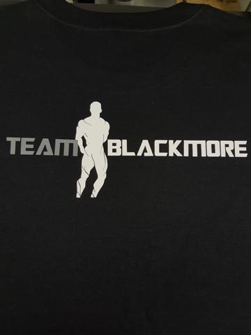 Lewy Blackmore Personal Training Sweatshirt Print by Barritt Garment Printing Bournemouth