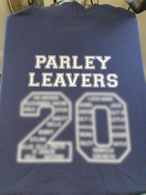 Parley First School Leavers Hoodies Print by Barritt Garment Printing Bournemouth