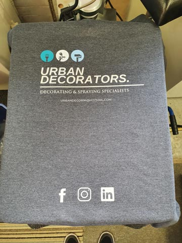 Urban Decorators Sweatshirt Print by Barritt Garment Printing Bournemouth